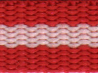 Red/white/red  15 mm